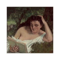 A Young Woman Reading (12×12)