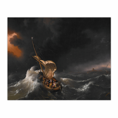 Christ in the Storm on the Sea of Galilee (8×10)