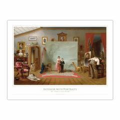 Interior with Portraits (12×16)