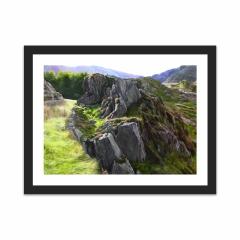 Outcrop, Snowdonia (12×16)