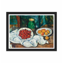 Still Life With Cherries And Peaches (12×16)