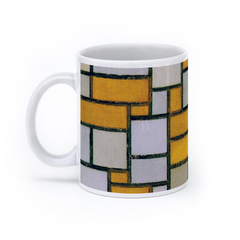 Composition with Grid 1 (11oz, White)