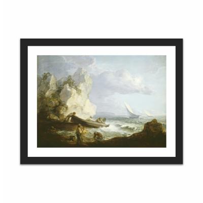 Seashore with Fishermen (12×16)