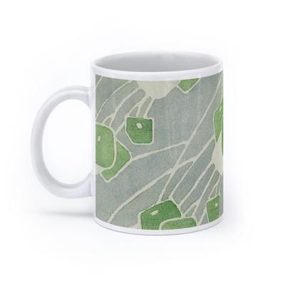 Green Geometric (11oz, White)