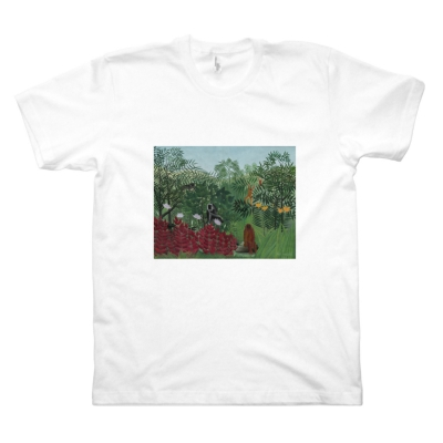 Tropical Forest with Monkeys (M, White)