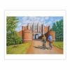 Arrival at Thornton Abbey Gatehouse (2013) oil on linen, 71 x 107 cm (8×10)