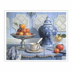 Still Life with a Chinese Vase and a Plate of Clementines (16×20)