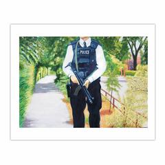 'Armed Police' , (2006), oil on linen, 140 x 100 cm. (8×10)