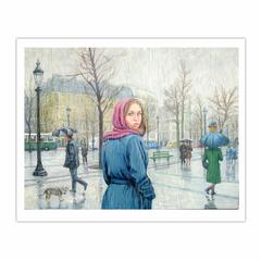 Brief encounter, Paris in the rain (8×10)