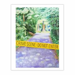 'Crime Scene - do not enter', (2006) oil on linen, 140 x 100 cm. (8×10)