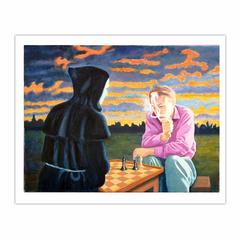 'Endgame', (2011). Oil on linen. 90 x 120 cm. (8×10)