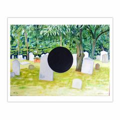 'Full Stop' 2006, 140 x 100 cm, Oil on Linen. (8×10)