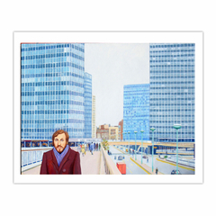 'Glories of modern architecture: London Wall in the 1970s', (2013) Oil on linen, 76.3 x 101.7 cm (8×10)