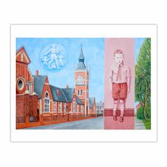 'Holme Hill Primary School' (2012), oil on linen,  66 x 96.5 cm (8×10)