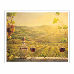 A vineyard at sunset (16×20)