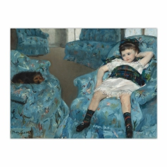 Little Girl in a Blue Armchair (12×16)