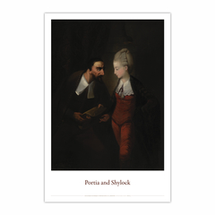 """Portia and Shylock, from Shakespeare's """"The Merchant of Venice"""", IV, i (12×18)"""