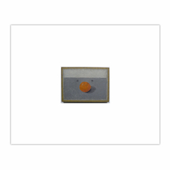 """Orange"" (1965) oil on hardboard, 13 and a half x 10 inches (8×10)"