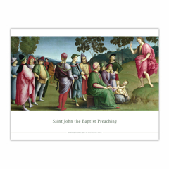 Saint John the Baptist Preaching (12×16)