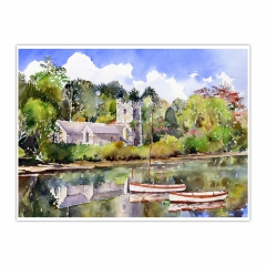 St Just in Roseland Church (12×16)