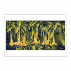 Trumpet Flowers - Fleurs trompettes (12×18)