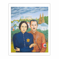 'Two German Philosophers in love', (2010), Oil on linen.110 x 90 cm. (8×10)