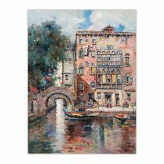 Gondolas in a Venetian Canal (12×16)