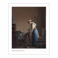 Girl Sweeping (8×10)