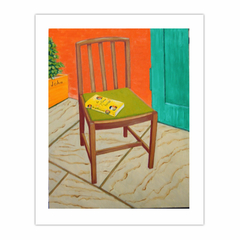 Utility dining chair (2007) oil on linen, 90 x70 cm. (8×10)
