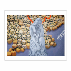 'Victims of the Khmer Rouge', (2008), oil on linen, 140 x 100 cm. (8×10)