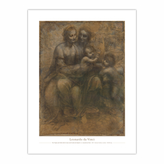The Virgin and Child with St Anne and St John the Baptist (12×16)