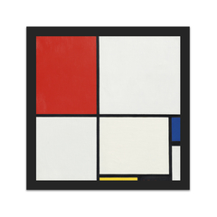 Composition No. III, with Red, Blue, Yellow, and Black (12×12)