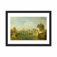 Fanciful View of the Castel Sant'Angelo, Rome (12×16)