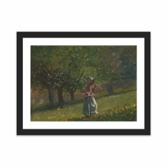 Girl with Hay Rake (12×16)