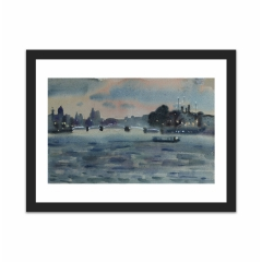 Twilight, Neva river (12×16)