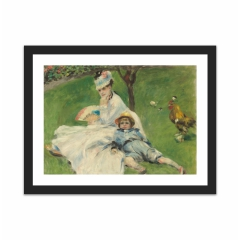 Madame Monet and Her Son (12×16)