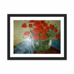 loved red flowers (12×16)