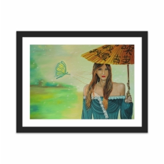 Young Woman with Parasol (12×16)