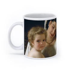 Young Mother Gazing at Her Child (11oz, White)