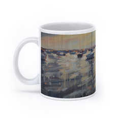 Monroe Harbor Morning (11oz, White)