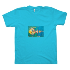 Modern Fishes - Towns in the Future - Blue Rhodos (XS, Turquoise)