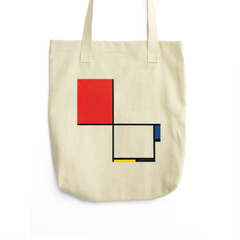 Composition No. III, with Red, Blue, Yellow, and Black (14 3/8 x14, Beige)