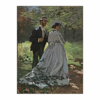 """Bazille and Camille (Study for """"Déjeuner sur l'Herbe"""") (12×16)"""