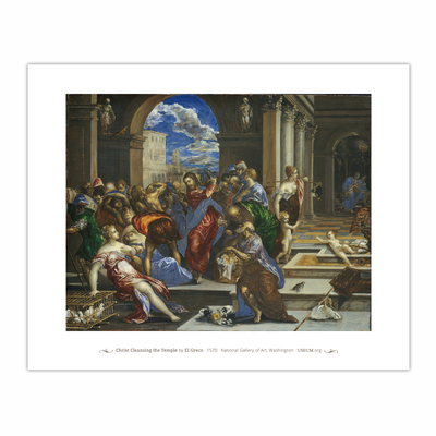Christ Cleansing the Temple (8×10)