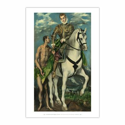 Saint Martin and the Beggar (12×18)