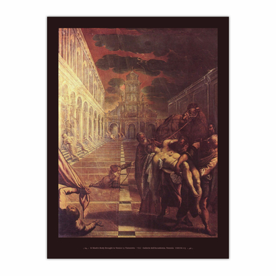 St Mark's Body Brought to Venice (12×16)