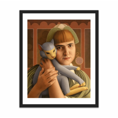 Girl With A Toy Cat (16×20)