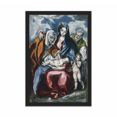 The Holy Family with Saint Anne and the Infant John (12×18)