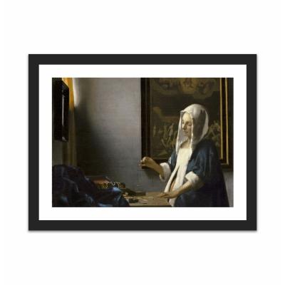 Woman Holding a Balance (12×16)