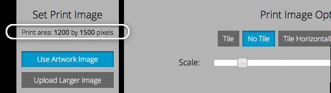 Print area size